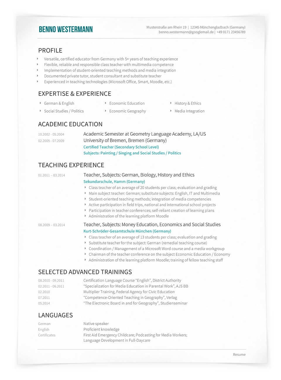 Englischer Lebenslauf Aufbau Tipps Muster Vorlagen 2021 10 1
